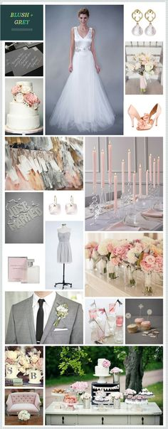 Blush + Grey wedding inspiration, finally picked my theme!!!!!