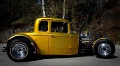brosciencebob:Gorgeous golden hotrod #hamb #hotrod...