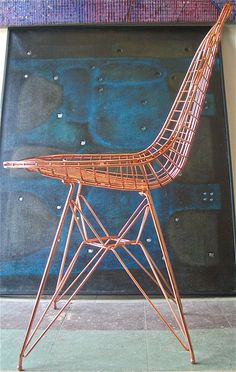 Eames copper wire chair
