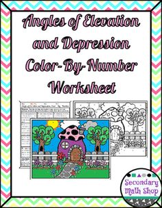 Worksheets Quiz Of Angle Of Depression Circle The Correct Answer depression problems riddles and on pinterest right triangles angles of elevation color by number worksheetthis color