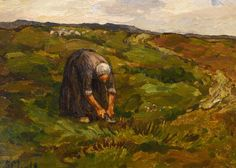 Sientje Mesdag van Houten (1834-1909) - Vrouwtje in duinen