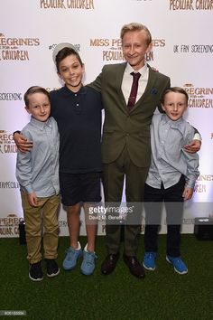 Tom Odwell, Cameron King, Hayden Keeler-Stone and Joseph Odwell attend a UK Fan Screening of 'Miss Peregine's Home For Peculiar Children' at The Soho Hotel on September 16, 2016 in London, England.