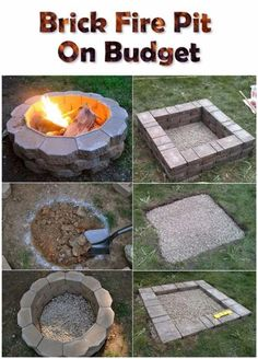 ideas for outdoor patio diy budget backyard fire pits Diy Pergola, Patio Diy, Backyard Gazebo, Fire Pit Backyard, Backyard Landscaping, Landscaping Ideas, Backyard Seating, Pergola Kits, Pergola Ideas