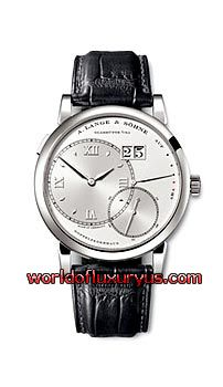 A. LANGE AND SOHNE: GRAND LANGE 1, 115.026 (PLATINUM / SILVER / LEATHER)