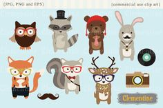 50 Hipster Design Resources For Your Next Creative Project Hand Illustration, Hipster Illustration, Hipster Design, Woodland Creatures, Woodland Animals, Woodland Forest, Creative Sketches, Business Card Logo, Watercolor And Ink