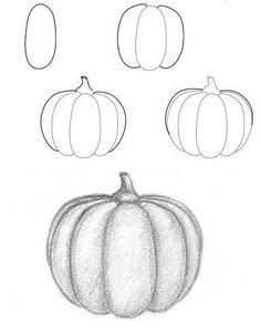 Learn to draw for kids. Halloween Pumpkin Drawing Tutorial -Learn to draw for kids. Halloween Pumpkin Drawing Tutorial Learn to draw for kids. Halloween Pumpkin Drawing Tutorial See it Fall Drawings, Doodle Drawings, Pencil Drawings, Easy Halloween Drawings, How To Shade Drawings, Kid Drawings, Realistic Drawings, Painting & Drawing, Painting For Kids