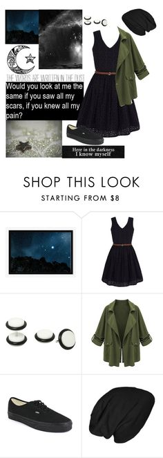 """Look at the stars. Look how they shine for you, and everything that you do. Yeah they were all yellow."" by sidbeak ❤ liked on Polyvore featuring West Elm, Yumi and Vans"
