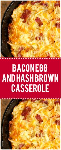 Bacon Egg and Hash Brown Casserole for a Lazy Weekend Breakfast – Page 2 – Q. - Bacon Egg and Hash Brown Casserole for a Lazy Weekend Breakfast – Page 2 – Quick Family Recipes - Healthy Breakfast Casserole, Breakfast Crockpot Recipes, Crock Pot Recipes, Sausage Breakfast, Breakfast For Dinner, Casserole Recipes, Breakfast Potatoes, Breakfast Ideas, Paleo Breakfast