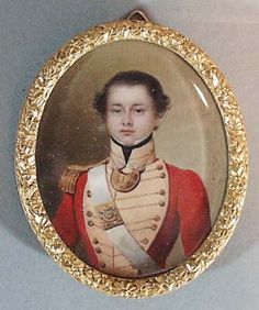 A Superb Portrait Miniature of an East India Company Officer, signed & dated Oorlof, 1833.