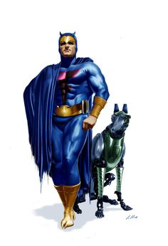 Blue Falcon and Dyno-Mutt - by Alex Ross, I think