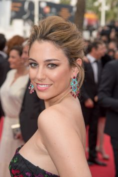 chopardredcarpet: Spanish actress Blanca Suarez dazzled in a pair of earrings from our Red Carpet Collection featuring rubellite tourmalines (47 carats), turquoises, white diamonds and tsavorites