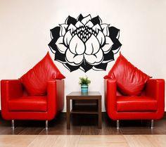 Lotus Flower Wall Decal Vinyl Sticker Wall Decor Home Interior Design Bedroom Bathroom Kitchen Art Mural Ah185 Horse Wall Decals, Animal Wall Decals, Flower Wall Decals, Wall Decor Stickers, Vinyl Wall Decals, Yoga Studio Decor, Rooms Home Decor, Nursery Room, Home Interior Design