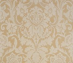 Stylish and approachable, Cheryl is traditional but sure to engage the eye. Adopted from an antique fabric, this #wallpaper pattern is finished with a raised print for a highly-textured and dimensional appearance. Featured here in #cream on #metallic #champagne. #Thibaut