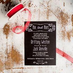 Chalkboard Wedding Invitation Suite  Rustic Retro by inoroutmedia, $2.60