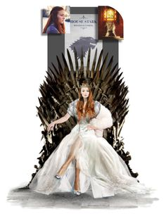 """Queen Sansa"" by sylviamccordle ❤ liked on Polyvore featuring art"