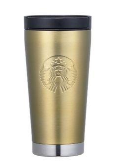 2018 Korea Starbucks Happy Now Year SS elma metal gold siren tumbler 251ml #StarbucksKoreaHappyNowYear2017