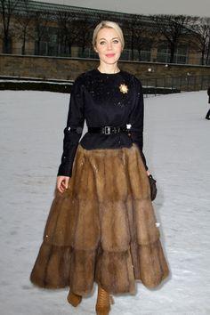 dior spring 2013 fur skirt