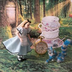 Alice in Wonderland as dollhouse doll.
