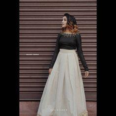 Long Skirt Top Designs, Designs For Dresses, Kerala Saree Blouse Designs, Lehenga Designs, Churidar Designs, Indian Gowns Dresses, Indian Fashion Dresses, Latest Traditional Dresses, Traditional Outfits