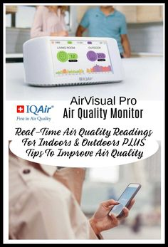 Ensure That The Air Your Family Breathes Is Safe With The AirVisual Pro Air Quality Monitor From ~ Deliciously Savvy Fall Gifts, Healthy Living Tips, Finding Joy, Safety Tips, Your Family, Holiday Gift Guide, Home Buying, Health And Beauty, Helpful Hints