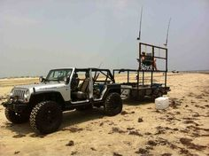 jeep beach fishing - Google Search Surf Fishing Rods, Beach Jeep, Jeep Wranglers, Monster Trucks, Surfing, Exterior, Google Search, Girls, House