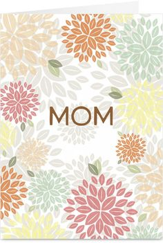 Pastel Flowers Mother's Day Card