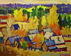 """""""FALL SHEDS"""" acrylic/canvas...SOLD"""