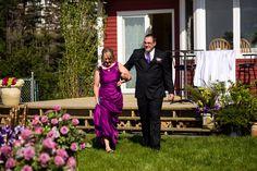 Mother Son wedding photo# outdoor wedding# Newfoundland# purple# green