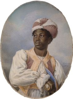 Alphonse de Labroue [ French 1792-1863 ] AN AFRICAN NOBLE
