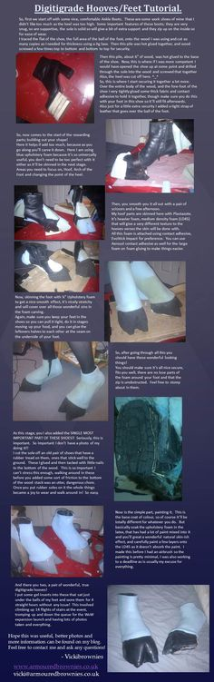 Draenei Digitigrade hooves/feet tutorial by ~VickiBrownies on deviantART seems pretty useful for a draenei cosplay Cosplay Diy, Halloween Cosplay, Halloween Diy, Halloween Makeup, Cosplay Armor, Adornos Halloween, Halloween Disfraces, Diy Costumes, Cosplay Costumes