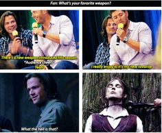 [SET OF GIFS] Jared & Jensen convention panel & 8x01 We Need to Talk About Kevin #VanCon2012