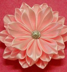 DIY kanzashi silk ribbon flower / Gyönyörű selyem szalag virágok kanzashi…