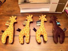 Patronen en tutorials: Baby knuffel Giraf