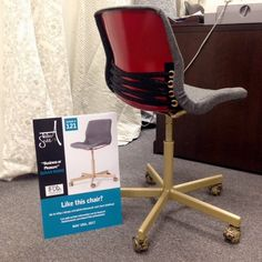 """I created this chair """"Business or Pleasure"""" to be auctioned off to benefit Habitat for Humanity."""