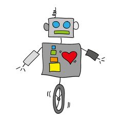 Robot with a heart by Cieleke, via Flickr