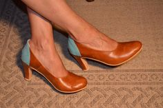 High heel leather handmade shoes / women shoes in Brown leather / Model Mary Jane by LaMoraZapatos on Etsy https://www.etsy.com/listing/190763726/high-heel-leather-handmade-shoes-women