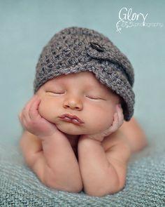 Baby Boy Hat Newborn 03 36 612 month Infant by Sebastianseven, $25.00