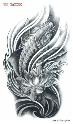 koi fish lotus flower tattoos - Google Search: