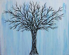 Tree Painting Original Tree Painting Abstract by MatriXArtbyDV