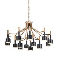 现代后现代新古典金属多头创意装饰设计师样板房工程客厅卧室吊灯-淘宝网