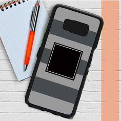 Monogram Awning Stripe Greys Samsung Galaxy S8 Plus Case Dewantary