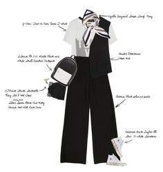 """Chic in Black& White"" by fashionscribbles ❤ liked on Polyvore featuring Haider Ackermann, J.Crew, Converse, Silver Spoon Attire, PB 0110, Viyella, women's clothing, women, female and woman"