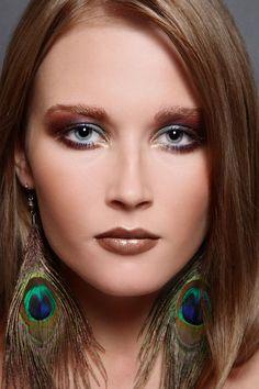 Evening makeup brown