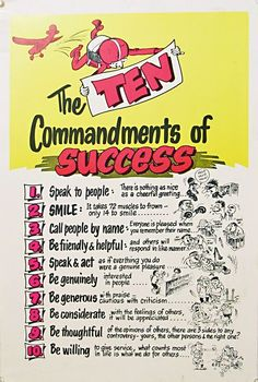 The Ten Commandments of Success (Reprint on Paper - Unframed)