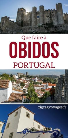 Portugal Voyage - Découvrez le superbe village médiéval d'Obidos, Portugal. Il est possible de marcher tout autour sur son mur de fortification, ce qui offre de superbes vues sur la ville et le château - possible en excursion depuis Lisbonne Portugal | Portugal visite | Portugal paysages | Portugal vacances