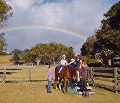 Rainbows in Makawao during our Therapeutic Horseback Riding sessions for children with special needs.  Haku Baldwin Center, Makawao, Maui, Hawaii. http://www.fb.com/HakuBaldwinCenter
