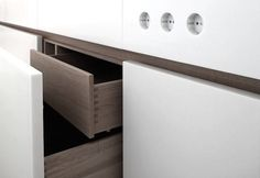 Tiered Drawers with Corian Outlets | Remodelista