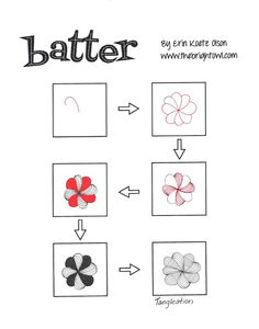Batter ~ Zentangle #tangle by Erin Koetz Olson #CertifiedZentangleTeacher