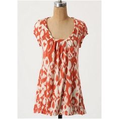 Deletta top Ikat Breeze tee by Deletta. Super soft tee with twisty neckline and front pocket. Lyocell. Size S. Anthropologie Tops Tees - Short Sleeve