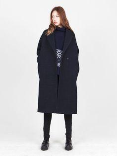LOOKAST CHAPTER #6 - Navy loop oversize coat